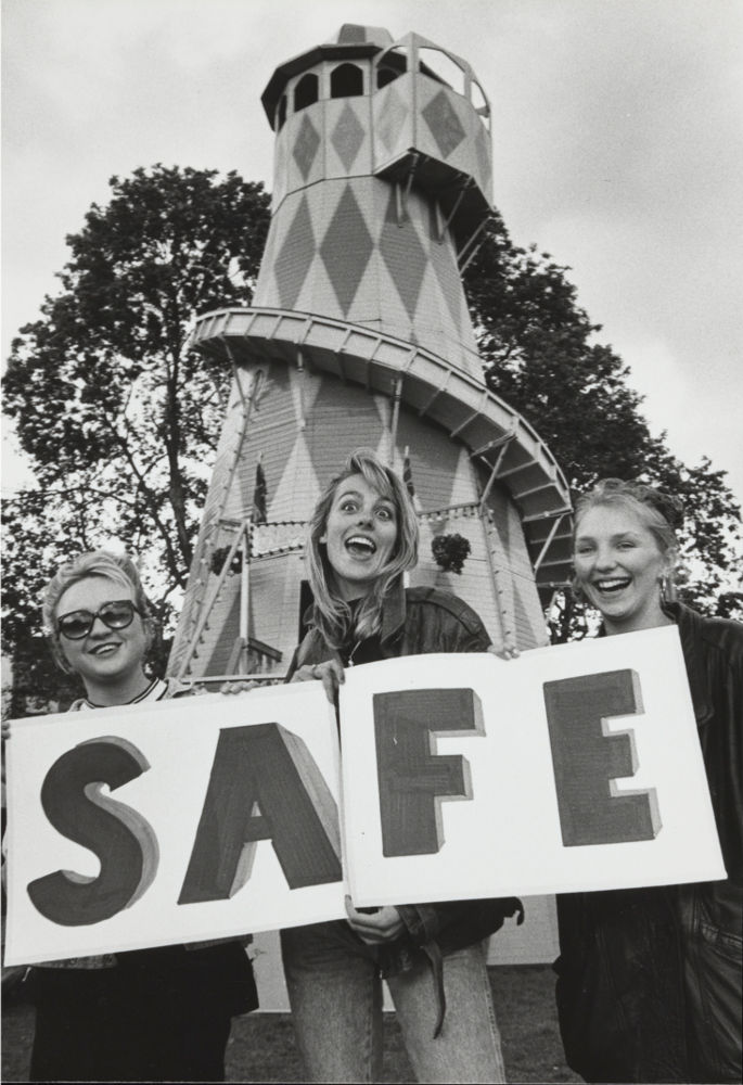 Safe sex campaign from the 1990s, featuring young people